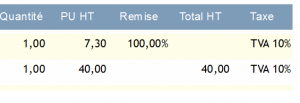 Remise 100%